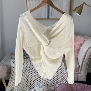 Sweaters - Twist Back Sweater